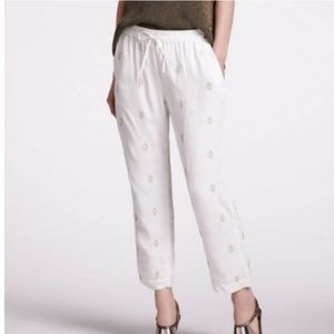 Anthropologie/Liefnotes Ivory Sequin Joggers